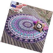 Bohemian Mandala Round Beach Tapestry Hippie Throw Yoga Mat