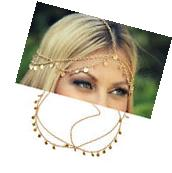 Bohemian Womens Drop Head Chain Jewelry Forehead Dance