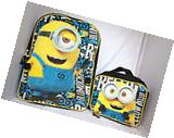 Despicable Me Minions Bookbag Backpack Lunch Box Set School