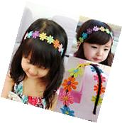 Bow Flower Headband Hair Band Ties Accessories For Kids Baby Girl Toddler