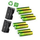 8PCS 5000mAh BRC 3.7v 18650 Rechargeable Li-ion Battery + 2X