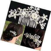 Bridal Wedding Diamante Crystal Rhinestone Flower Hair Clip