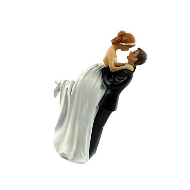 "Bride & Groom LED  Wedding Cake Toppers 4-1/2"" Tall"