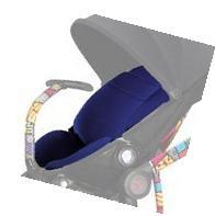 Quinny Britto Moodd Seat Pad, Blue