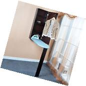Brown Ironing Board Cabinet Foldable Wall Mounted with