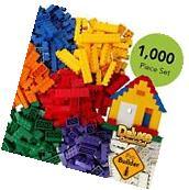 New 1000 Pieces of Building Bricks Bulk Block Compatible to