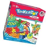 TINKERTOY BUILDING SET, Kids Toys 30 Model 200 Piece Super