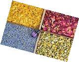 Bulk Botanical Flowers Kit - French Lavender, Marigold, Chamomile, Red Rose Buds