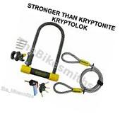 """OnGuard Bulldog DT 4.5""""x9 Bike ULock & 4' Cable fit"""