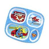 Bumkins DC Comics Superman Divided Melamine Plate