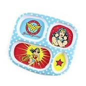 Bumkins DC Comics Wonder Woman Divided Melamine Plate
