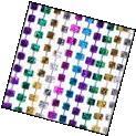 Bunco Dice Mardi Gras Bead Necklaces