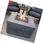 Fire Pit Table Burner Patio Deck Outdoor Propane Fireplace