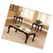 Furniture of America Burseel 3 Piece Coffee Table Set in