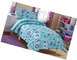 Mainstays Kids Butterfly Floral Bed In A Bag Bedding Set,