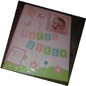 New C.R. Gibson Sweet Girl Flowers Baby's First Memory