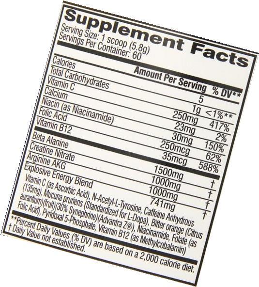 C4 Extreme Workout Supplement, Strawberry Margarita, 390