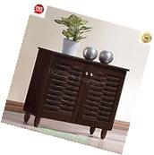 Shoe Cabinet Storage Modern Organizer Contemporary Brown