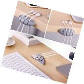Cable Drop Clip Desktop Wire Cord USB Charger Holder 4 Cable