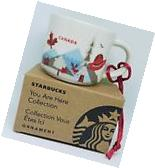 "Starbucks ""You are here"" Canada Ornament Demi 2 oz. - Brand"