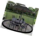 9-Foot Umbrella Screen Outdoor Mosquito Net Canopy For Patio