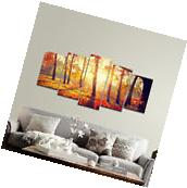 Canvas Print Picture Photo Landscape Deer Sunset Woods Home