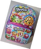 """Shopkins Girls 16"""" Canvas School Backpack With Bonus Lunch"""