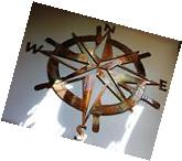 "Captains Nautical COMPASS ROSE  23""WALL ART DECOR copper/"