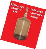 CARBOY KIT 6 GALLON PET w/AIRLOCK BUNG VINTAGE SHOP FOR WINE