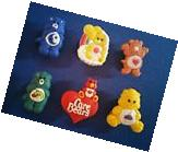 NEW 6 PC CARE BEARS SHOE CHARMS JIBBITZ CAKE TOPPERS PARTY