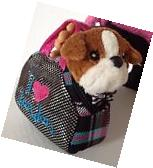"""Carrier Purse and Pet Bull Dog for American Girl Doll 18"""""""