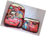 Disney Cars Moive Lightning McQueen Boys School Backpack Lunch Box Book Bag Set