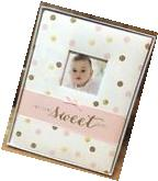 NEW Carters WELCOME SWEET BABY Pink/Gold Sparkly Baby Girl