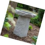 Cast Stone Bird Bath Modern Pedestal Garden Outdoor Yard Art