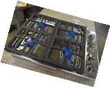 """DCS CDV304N 30"""" Stainless Steel Gas 4 Burner Cooktop NOB #"""