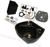 Ceramic Heart Shape Round Shampoo Bowl Sink with Bracket