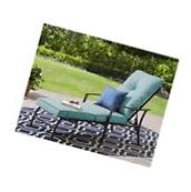 Outdoor Chaise Lounge Chair Garden Pool Lounger Cushion