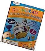 Chanukah Glitter Foam Shapes Stickers Hanukkah Activity for