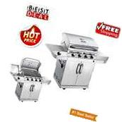Char Broil 4-Burners Stainless Steel Liquid Propane Gas