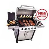 Char Broil 5-Burner Gas Grill Stainless Steel Outdoor