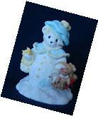 Cherished Teddies, Christmas Ornament, Bear, cookies, picnic basket,  NIB