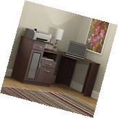 Cherry Corner Computer Desk Office With Storage Home L-