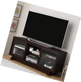 Cherry Finish 55-Inch TV Stand Entertainment Center Wood