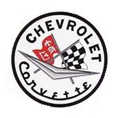 """Chevrolet Corvette Large 8"""" Round Embroidered Car Jersey"""