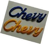 Brand new CHEVY embroidery patch iron on jacket shirt logo