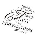 Christian Wall Decal Mural Sticker DIY Art Removable Vinyl