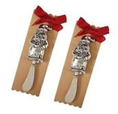 Mud Pie Christmas Santa Cheese Spreader Butter Knife Serving