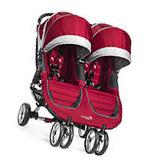 Baby Jogger City Mini Double Twin Stroller Crimson / Gray