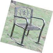 Classic Metal Rocking Rocker Chair Seat Furniture Outdoor