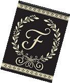 Classic Monogram F Garden Flag Everyday Double Sided Summer
